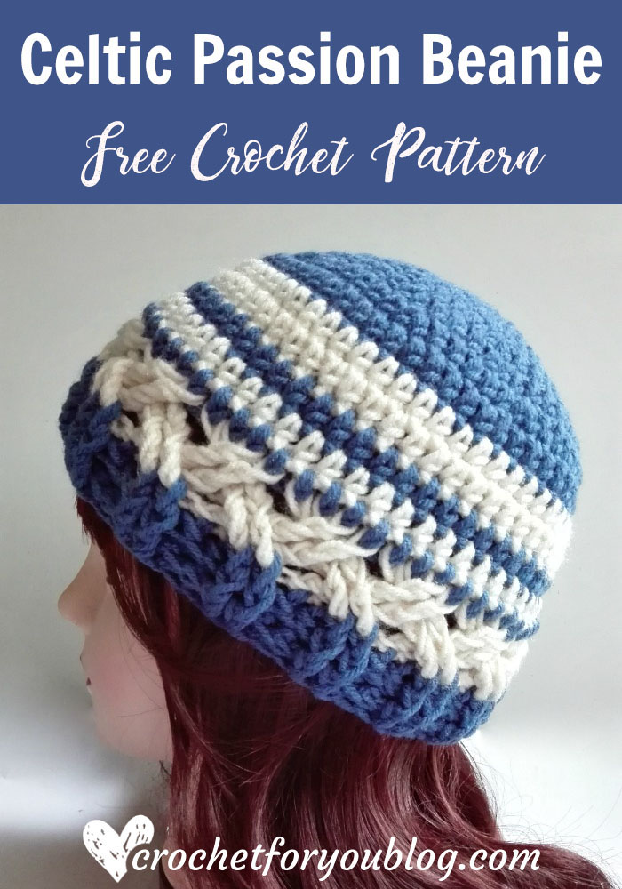 Celtic Passion Beanie Free Crochet Pattern Crochet For You