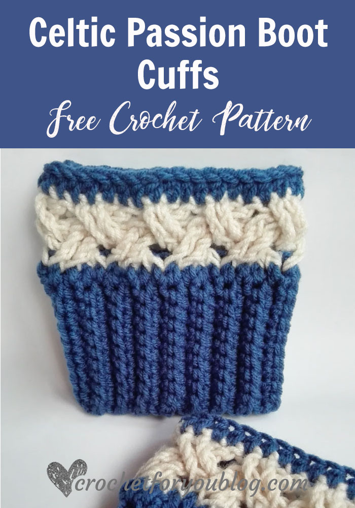 Celtic Passion Boot Cuffs Free Crochet Pattern - Crochet For You