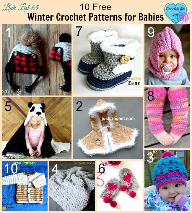 10 Free Winter Crochet Patterns For Babies Crochet For You