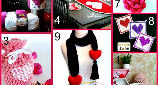 Link list 66: 10 Free Crochet Patterns for Valentin's Day