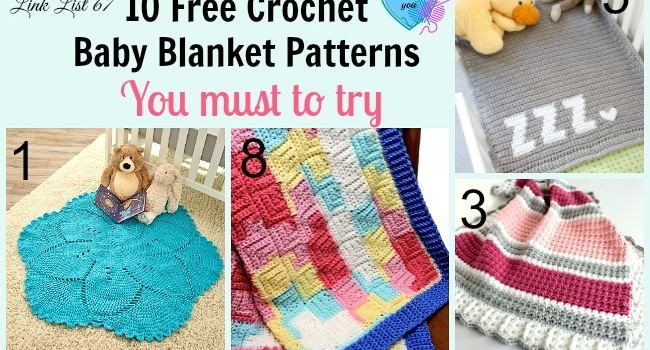 Link list 67: 10 Free Crochet Baby Blanket Patterns with Great Textures