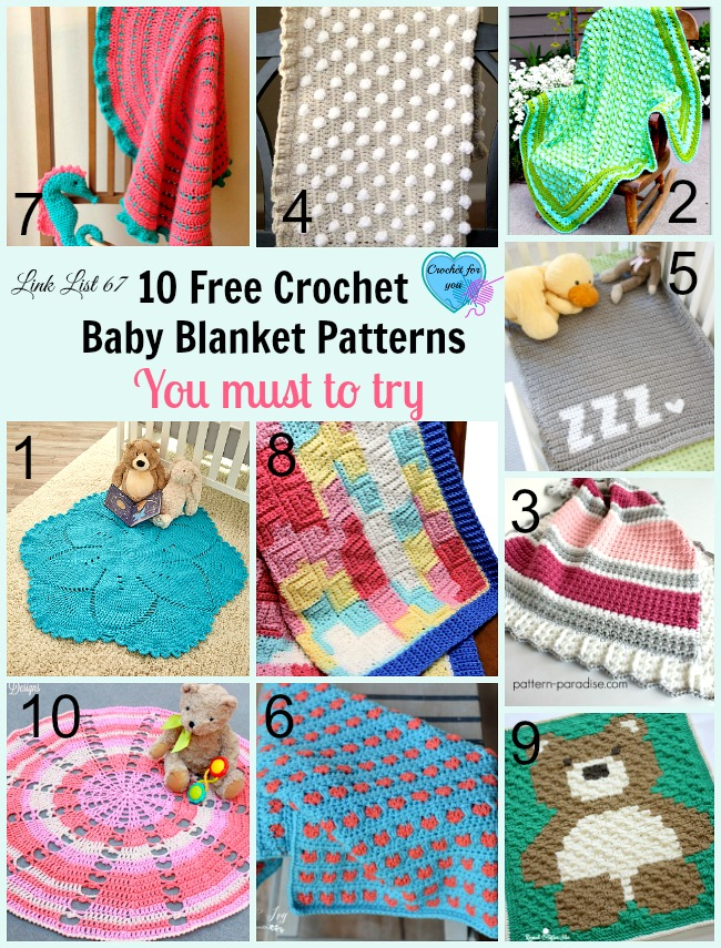 10 Free Crochet Baby Blanket Patterns With Great Textures Crochet