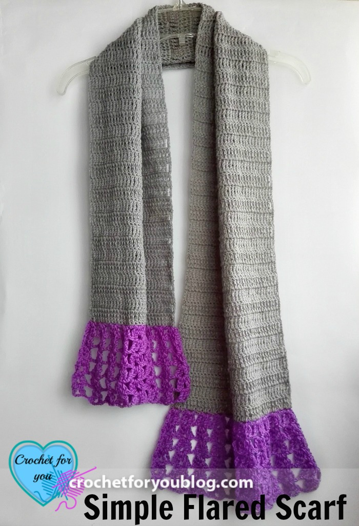Simple Flared Scarf Free Crochet Pattern Crochet For You