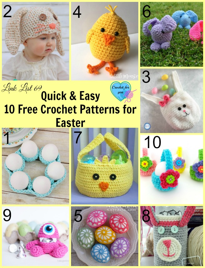 Quick Easy 10 Free Crochet Patterns For Easter Crochet For You