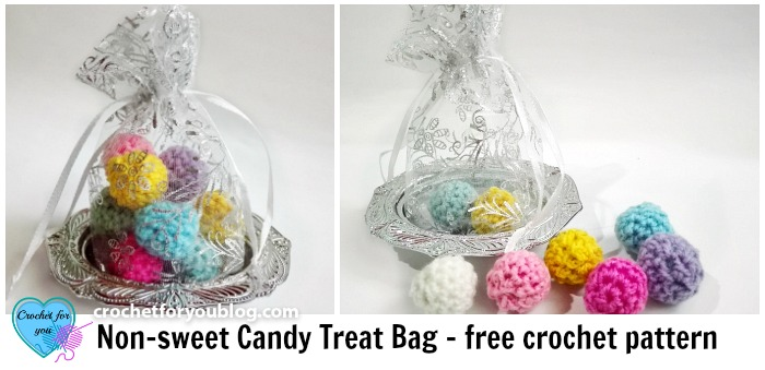 Crochet non-sweet Candy Treat Bag Free Pattern
