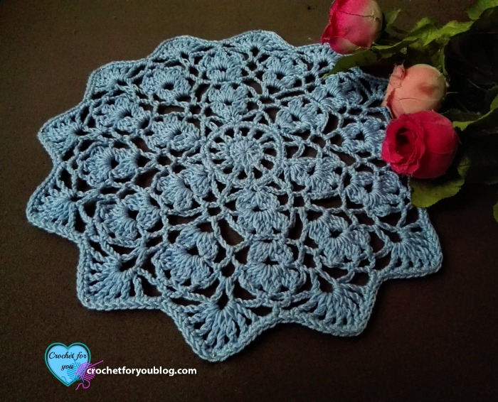 Flower Wheel Doily Free Crochet Pattern Crochet For You