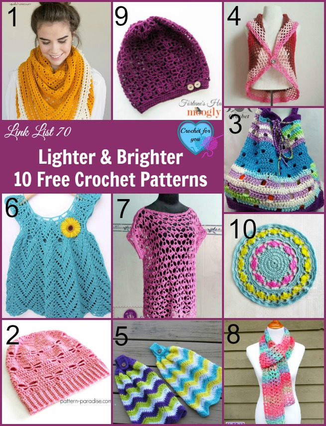 Lighter and Brighter 10 Free Crochet Patterns - Crochet For You