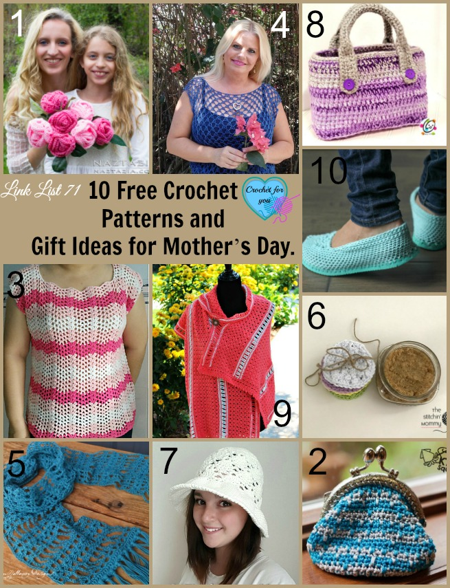 10 Free Crochet Patterns And Gift Ideas For Mothers Day Crochet