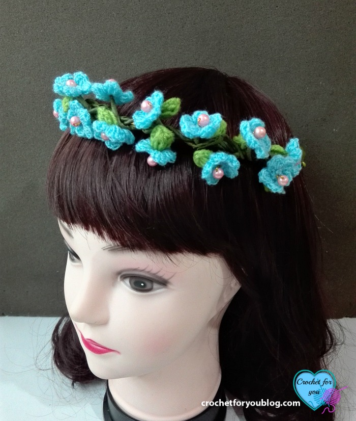 Crochet Flower Hairband Free Crochet Pattern Crochet For You