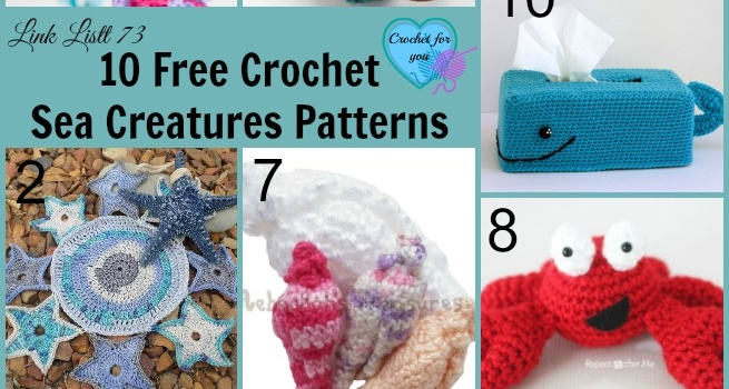 Link list 73: 10 Free Crochet Sea Creatures Patterns