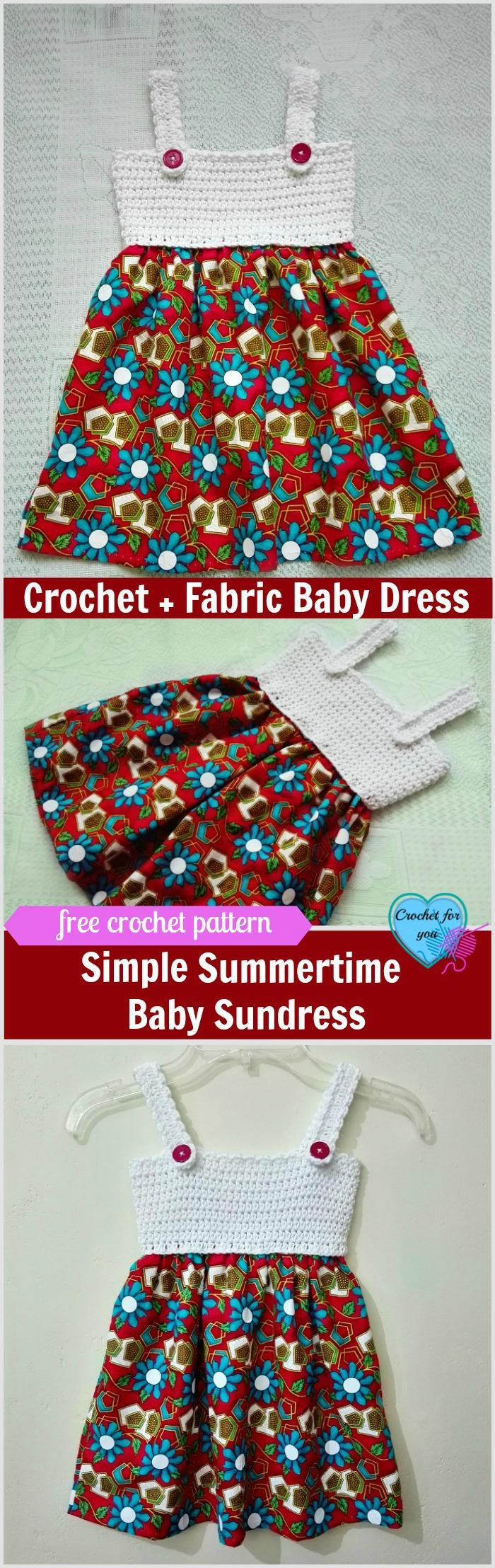 Simple Summertime Baby Sundress Free Crochet Pattern-Crochet For You