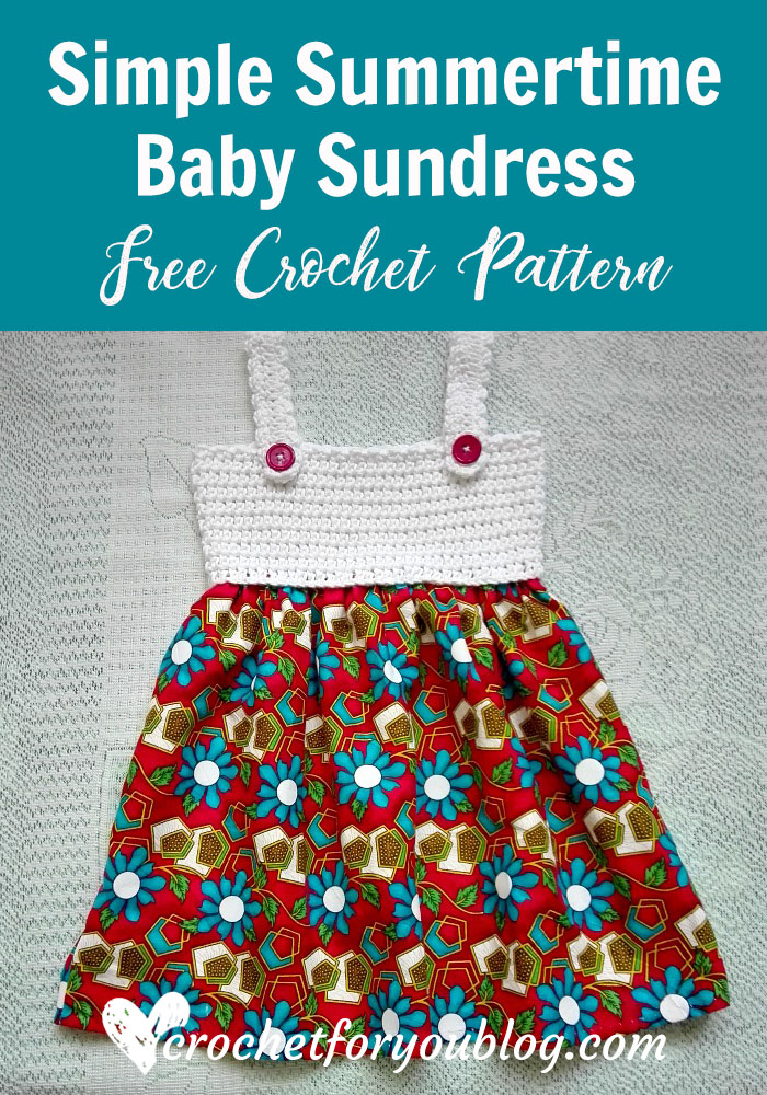 Simple Summertime Baby Sundress Free Crochet Pattern Crochet For You