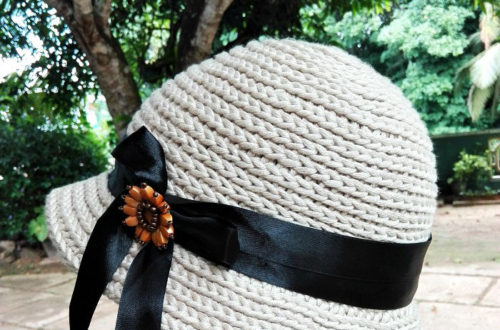 Straw Sun Hat - free crochet pattern