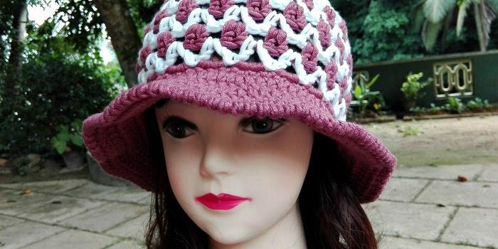 Crochet Casual Summer Sun Hat Free Pattern