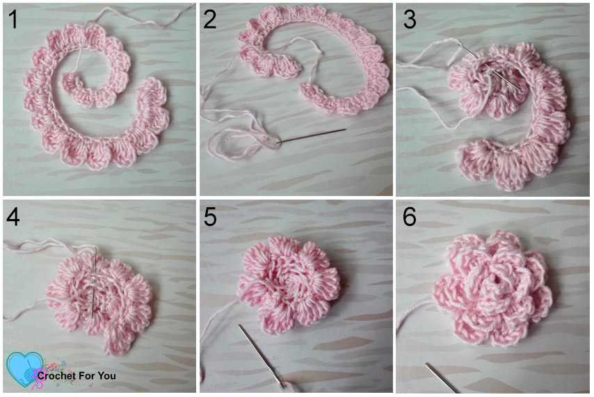 Crochet Flower of Easy Peasy Baby Beanie Pattern