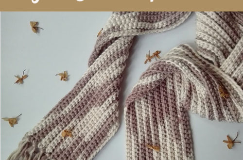 Easy Ribbed Scarf - free crochet pattern