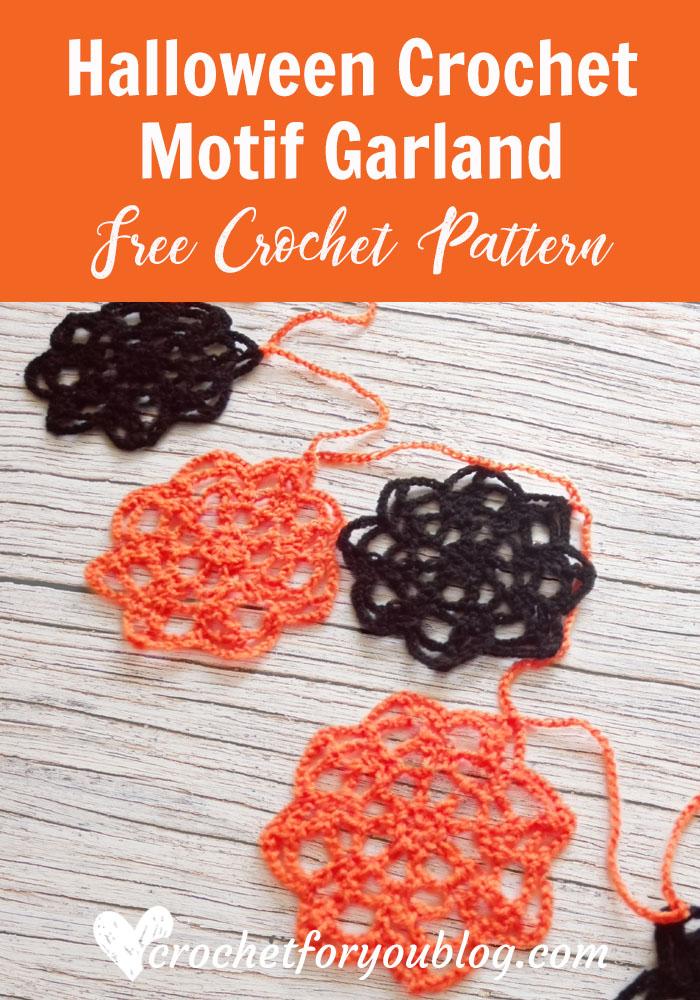 Halloween Crochet Motif Garland - free crochet pattern