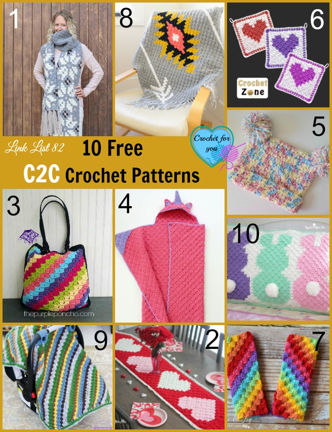 60 Free Corner To Corner Crochet Patterns Crochet For You Amazing C2c Crochet Pattern Rectangle