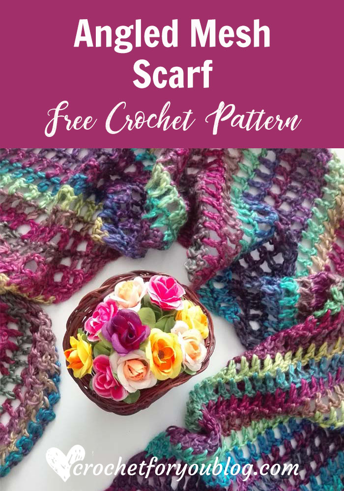 Crochet Angled Mesh Scarf Free Pattern Crochet For You