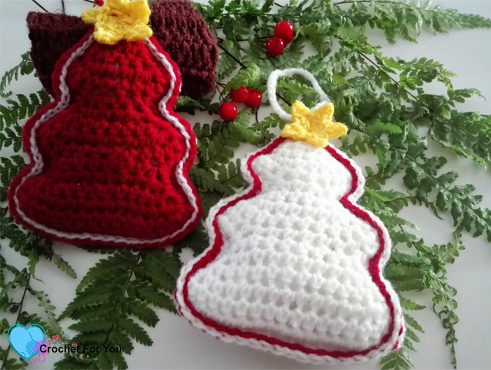 christmas ornament mini cal crochet christmas trees - Mini Christmas Tree Ornaments