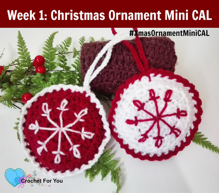 Christmas Ornament Mini Cal Crochet Baubles Crochet For You