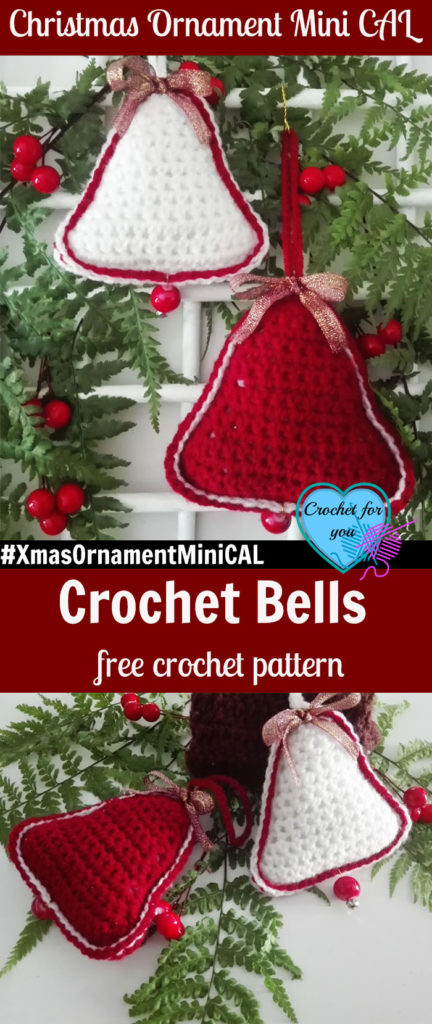 Christmas Ornament Mini Cal Crochet Bells Crochet For You