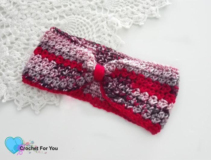 Winter\'s Cerise Crochet Headband Free Pattern - Crochet For You