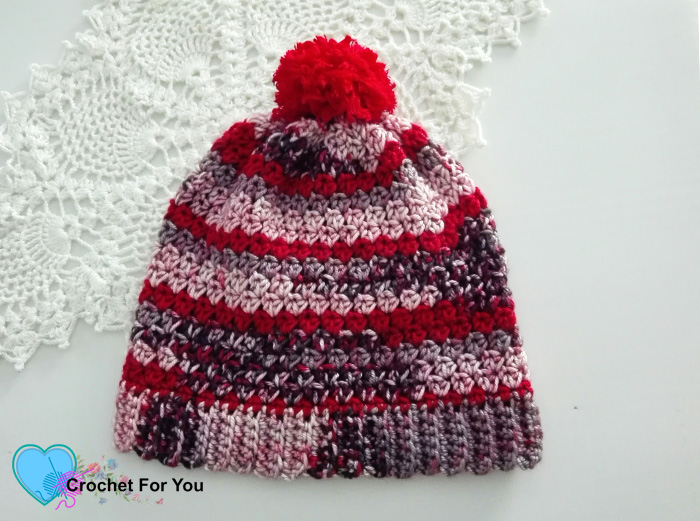 Winter's Cerise Crochet Slouch Free Pattern