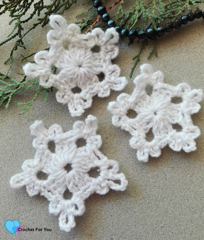5-Minute Crochet Snowflake Free Pattern - Crochet For You