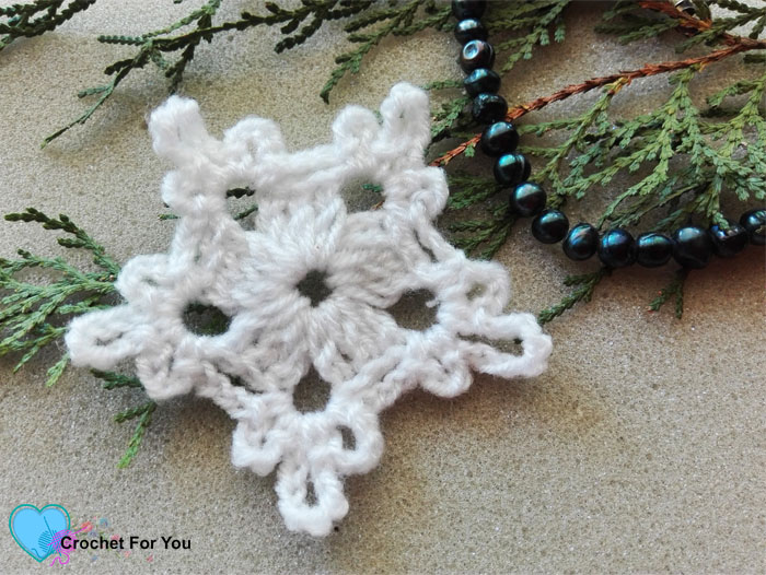 5 Minute Crochet Snowflake Free Pattern Crochet For You