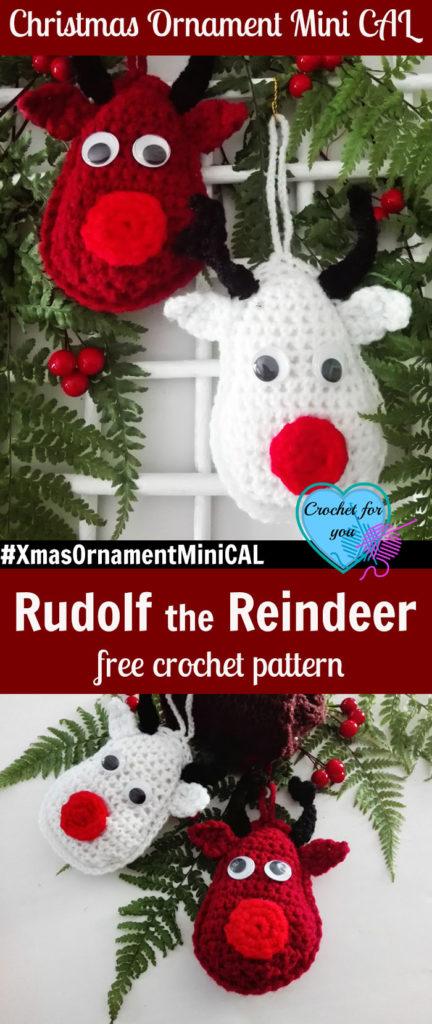 Christmas Ornament Mini CAL – Crochet Rudolf the Reindeer