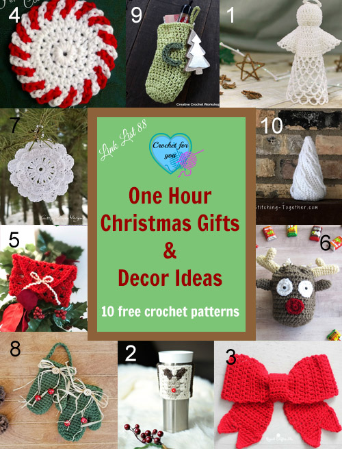 One hour Christmas Gifts & Decor Ideas - Crochet For You