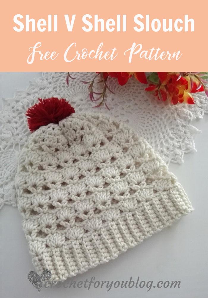 Shell V Shell Crochet Slouch Free Pattern Crochet For You