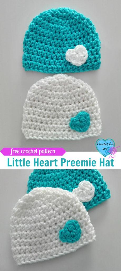 Little Heart Crochet Preemie Hat Free Pattern Crochet For You