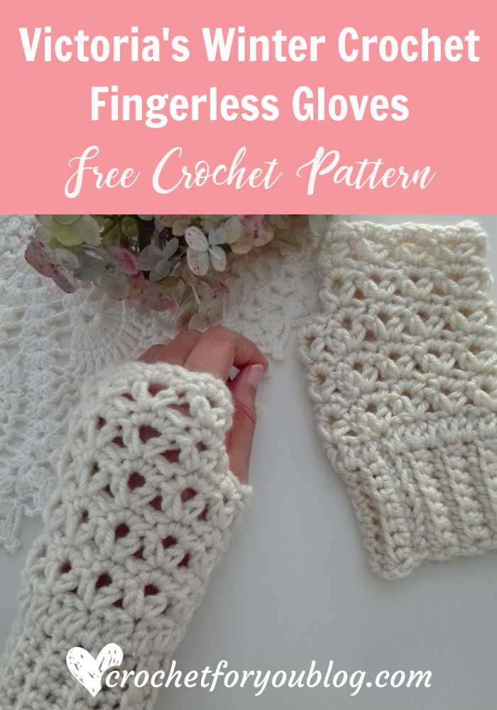 Victorias Winter Crochet Fingerless Gloves Free Pattern Crochet