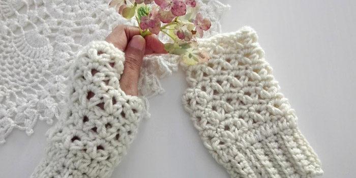 Victoria's Winter Crochet Fingerless Gloves Free Pattern