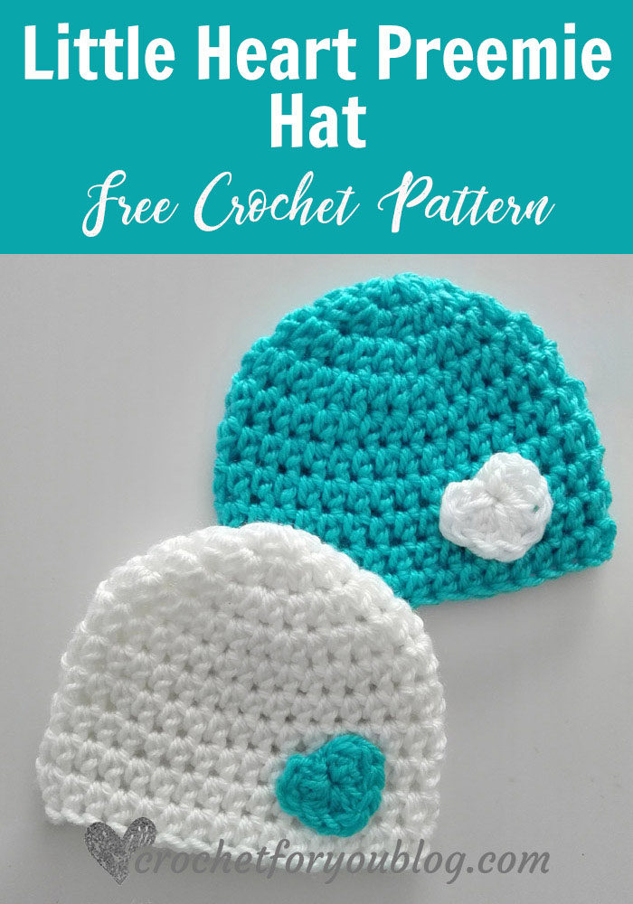 Little Heart Preemie Hat - free crochet pattern