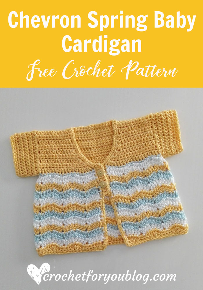Crochet Chevron Spring Baby Cardigan Free Pattern - Crochet For You