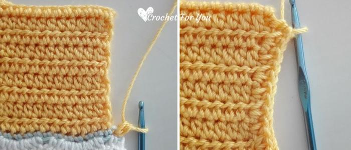 Crochet Chevron Spring Baby Cardigan - free pattern 12