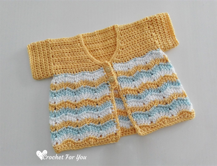 Crochet Chevron Spring Baby Cardigan Free Pattern Crochet For You