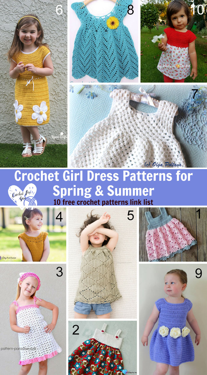 Crochet Girl Dress Patterns For Spring Summer Crochet For You