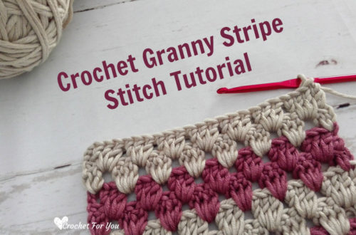 Crochet Granny Stripe Stitch Tutorial