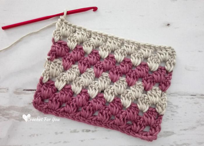 Crochet Granny Stripe Stitch Tutorial