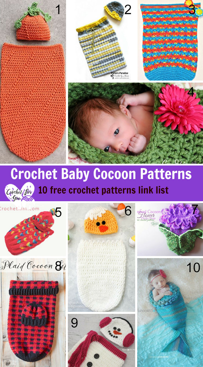 Crochet Baby Cocoon Patterns 10 Free Crochet Patterns Link List
