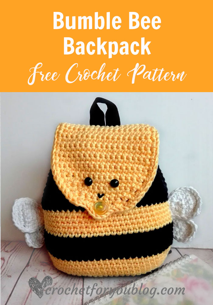 photograph about Dice Bag Printable Pattern identified as Crochet Bumble Bee Backpack Absolutely free Behavior - Crochet For Oneself