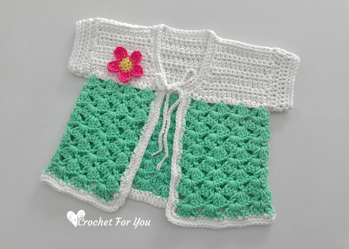 Crochet Cactus Baby Cardigan Free Pattern Crochet For You