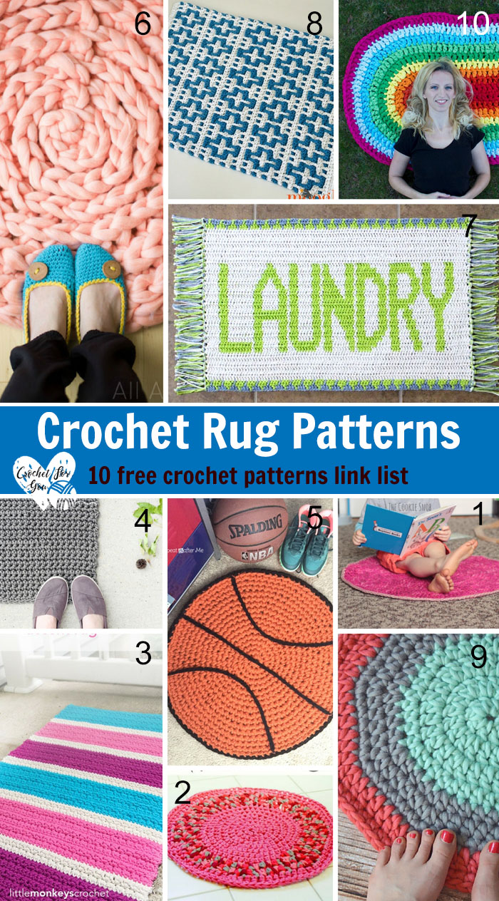 Crochet Rug Patterns 10 Free Link List