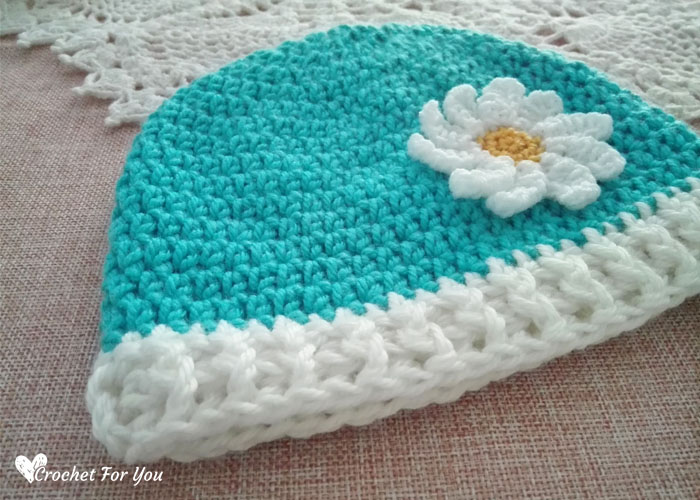Crochet Basic hdc Toddler Beanie Free Pattern
