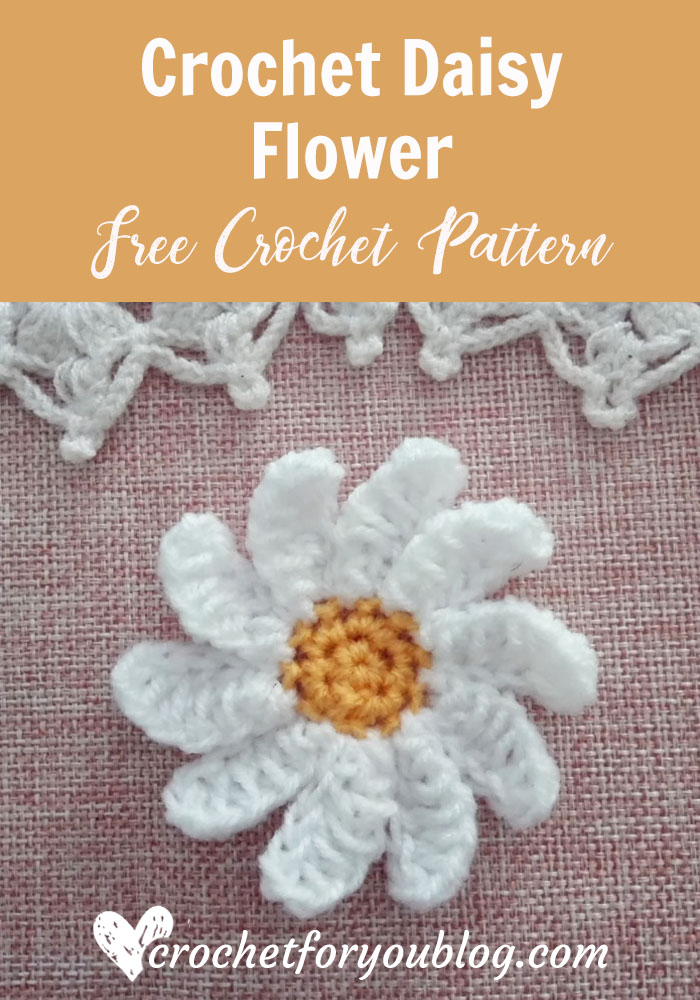 Crochet Daisy Flower Free Pattern Crochet For You