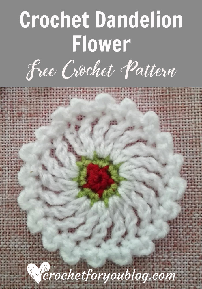 Crochet Dandelion Flower Free Pattern Crochet For You